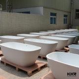 Banheira autônoma de pedra artificial branca do estilo italiano