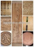 Dois preço de cinzeladura de madeira da máquina do CNC dos eixos 3D para a porta de gabinete para a venda