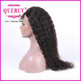 Venda quente! ! Peruca brasileira Curly do laço da parte dianteira do cabelo humano do Virgin da forma longa para americanos africanos
