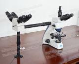 Microscópio biológico da demonstração da Multi-Visão FM-510 para diversos povos