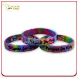 L'abitudine ha suddiviso la coloritura con il Wristband del silicone stampato marchio