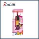 Bolsos impresos 4c del regalo del papel del portador de las compras de la botella de vino de la promoción