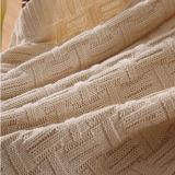 Katoen het van uitstekende kwaliteit van het buitensporig-Weefsel breit Deken (DPB8016)
