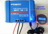 Blauer intelligenter MPPT Solarcontroller der Cer RoHS SGS-Fangpusun aufladeeinheits-50A mit LCD-Bildschirmanzeige