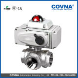 Válvula de esfera elétrica do aço inoxidável de Covna