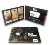 """Videokarte-Broschüre der Fabrik-4.3 """" mit glatter Fertigstellung, kundenspezifischer Entwurf"""