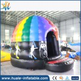Шатер цветастого раздувного диско шатра большого напольного раздувного скача