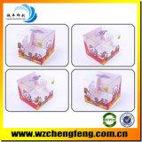 PVC della plastica che piega la scatola di plastica con il gancio e la stampa