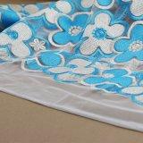 Tela del cordón de la ropa del bordado del ganchillo del algodón