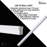 El aluminio y la PC cubrieron la luz Warrenty de la pared de los 60cm 14W LED T5 por 3 años