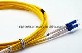 Câble de cordon de connexion de fibre optique avec le connecteur de FC de Sc LC