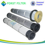 Filtro em caixa do poliéster de Toray do coletor de poeira do jato do pulso de Forst