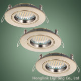 강선전도 Lock Ring는 GU10/MR16 Lamp Holder를 가진 Aluminum Recessed Ceiling Downlight Fixture를 정지한다 Cast