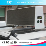 Dual Side P5 Full Color Taxi Roof LED Display Display com controlador 3G / 4G / WiFi