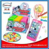 Brinquedo musical do telefone de pilha da tela de projeção com doces