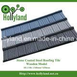Azulejo de material para techos de acero revestido de piedra (azulejo de madera)