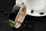 Reloj elegante de Bluetooth con llamada del podómetro y de teléfono del G/M