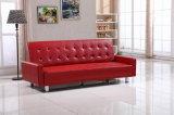 Кровать софы Seater кровати софы 3 PU