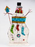 Do boneco de neve barato relativo à promoção do presente do metal da fábrica decoração ao ar livre