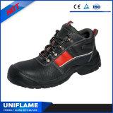 Chaussures de sécurité en cuir avec rayure réfléchissante