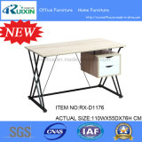 Ikea Modern Design Wood & Steel Frame PC Table com pendurado 2 gavetas