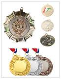 Medaille van de Strook van het Brons van de Toekenning van de Eer van de Sport van de douane de Gouden met Linten