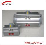 Atuador pneumático de válvula de tipo rotativo de alumínio