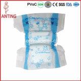Tecido descartável do bebê da película respirável elevada barata quente da absorção do preço da venda, tecido do bebê das fitas dos PP da película do PE