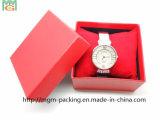 Caixa de relógio envolvida do cartão da venda papel luxuoso quente
