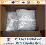 Конкретное аддитивное волокно Fibrillated PP сетки полипропилена волокна Fibra