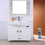 PVC Glass Bowl Bathroom Vanity de Floor Standing de qualité avec Mirror