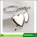 女の子Firend Gift Arrow Through Heart Custom Metal Keyring