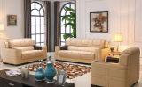 実質の革が付いている現代家具の革居間のソファー