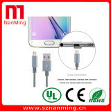 Cable de nylon micro del USB de V8 para Samsung ---- Gris