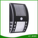 Lumière extérieure de mur de bas-côté de jardin de corps de détecteur de lampe solaire extérieure intelligente de yard