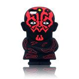caja roja del teléfono celular del silicón de la raya de Valkyrie del diablo 3D para el varón (XSY-027)