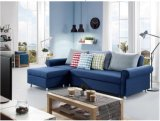 Sofá cama de tecido azul escuro para uso doméstico (SB005)