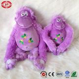Giocattolo della peluche farcito seduta bella viola del regalo di natale della scimmia