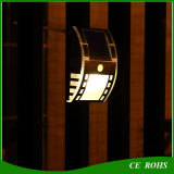 Indicatore luminoso esterno della parete della navata laterale del giardino del corpo del sensore della lampada solare esterna astuta dell'iarda