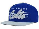 Tampão do Snapback de Royalblue com logotipo do bordado 3D