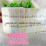 De Etiketten van pvc van de Stickers van de Naam van het Beeldverhaal van Cinderella voor Opvang, Kleuterschool, Kleuterschool