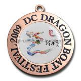 Medallas de encargo de la competición con insignia y los acolladores