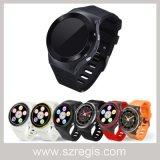 Reloj elegante de la muñeca de Digitaces del deporte de 3G WiFi con la cámara