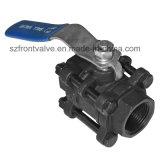 Geschroefte 3PC Kogelklep met het Opzetten ISO5211 Stootkussen