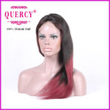 まっすぐな自然なヘアラインを持つ女性のためのブラジルのレースの前部かつらはすべてのカラー使用できる