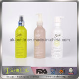 Bottiglie di alluminio dello sciampo con spruzzo