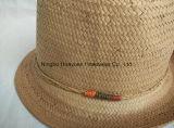Los muchachos de papel del 100% Sumergir-Teñen el sombrero de paja del sombrero de ala de Toyo