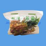La bolsa de plástico Ziplock reconectable del PE con insignia y la impresión del sastre