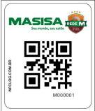 Fósforo original de Qrcode com os Tag do PVC NTAG213 NFC do número de série