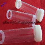 Tube en verre à quartz transparent et personnalisé à l'extrémité de la vis